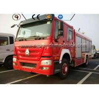 Quality Sinotruck Howo Fire Fighting Vehicles 10000 L Water Tank Right Hand Drive for sale