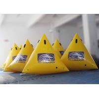 China Customized Inflatable Race Buoys Green / Yellow / Blue 0.6 Mm PVC Tarpaulin wholesale