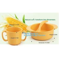 China Biodegradable Eco Friendly Dinnerware PLA Bowl , PLA Fruit Salad Bowl Healthy Children on sale