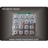 China 16 Keys Backlit Vandal Proof Metal Numeric Access Kiosk Keypad wholesale
