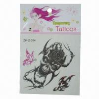 China Temporary/Removable Skin Tattoo Stickers, Eco-friendly, Can Last for Several Days wholesale
