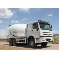 China HOWO Heavy Duty Dump Truck , Cement Mixer Truck 10 Wheels Euro 2 400L Fuel Tank wholesale