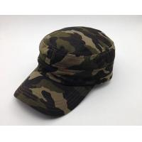 China Durable Camouflage Military Cadet Cap Pure Cotton 3d Embroidery Fitted wholesale