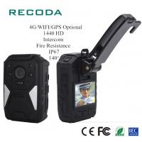 China Real Time 4G Body Camera Video GPS Tracking Fireproof 1440P HD Police Handy Recorder wholesale