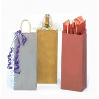 China 2015 custom printing wholesale Luxury wine packaging paper bag made in China wholesale