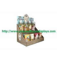 China Paper Corrugated Cardboard Counter Display Stand Recycled For POS Soap wholesale