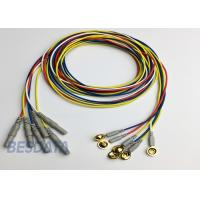 Quality BCI Researcher EEG Electrode Cap Used Multicolor Coated Gold EEG Electrodes Din for sale
