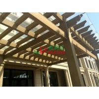 China Beautiful DIY Garden Wall Mounted Pergola WPC Rot Resistance Recyclable 100% wholesale