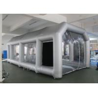 China Outdoor Inflatable Spray Booth With Two Blowers Removeable Filter wholesale