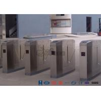 China Cold Rolled Steel Luxury Flap Barrier Gate , Pedestrian Access Control Turnstile wholesale