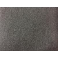 China 100 Polyester Velvet Fabric 580g/m , Wool Upholstery Fabric Charcoal Color wholesale