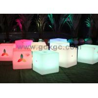 China Wireless Remote Control Glow Chair , Waterproof LED round bar stool wholesale