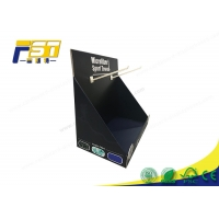 China K5 Corrugated PDQ Cardboard Display Boxes Offset With Hooks wholesale