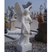 China White Marble Angles Carving on sale