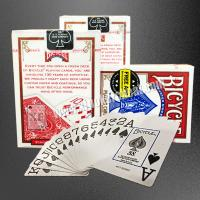 China USA Bicycle Jumbo Paper Gambling Props / Poker Size Two Jumbo Index Playing Cards on sale