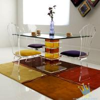 China acrylic seagrass coffee table set wholesale