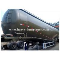 China Carbon steel Durable Bulk Cement Power Trailer 75Tons and 78CBM , Silo Trailer with warranty wholesale