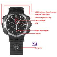 China Y31 16GB 720P WIFI IP Spy Watch Hidden Camera Recorder IR Night Vision Home Security Wireless Remote Video Monitoring wholesale