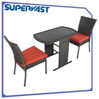 Black pact 3pc Resin Wicker Patio Furniture Set with Seat Cushion of outdo
