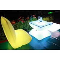 China Illuminated Rechargeable LED Tables And Chairs With 4000 Mah Lithium Battery wholesale