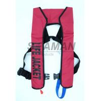 China 150N EN / ISO Automatic Inflatable Life Jackets 210D Nylon TPU Single Air Chamber wholesale