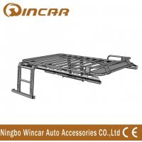 China Jeep Wrangler Automotive Roof Rack Basket Iron Body No Net With Ladders wholesale