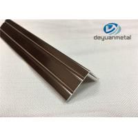China 6063 T5 Polishing Bronze Aluminium Trim Extrusion Profile GB/75237-2004 wholesale