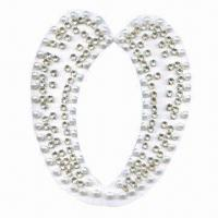 China Newest collar style, made of velvet base, with pearl beads and clear stones wholesale