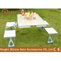 Quality Vehicle Camping Folding Table and Chair Set , Folding Picnic Tables for sale