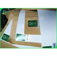 China 100gsm + 15g Single PE Poly Coated White & Brown Kraft Paper Roll For Food Bags wholesale