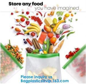 China FDA Approved Zip Lock Bags Food Packaging Zipper peva Reusable Ziplock Sandwich Bag,Eco-Friendly Soft Clear PEVA Bag Wit on sale