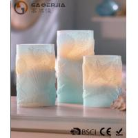 China 3 Set Scented Battery Operated LED Candles with Seashell Starfish wholesale