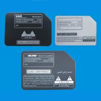 China Custom Self-Adhesive Plastic Name Plates Stickers Signs For Electrical Industry wholesale