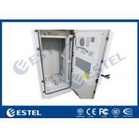 China 27U Air Conditioner Cooling Outdoor Control Cabinet Galvanized Steel Double Wall wholesale