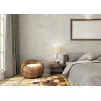 China Embossed Leaf Pattern Modern Removable Wallpaper for Bedroom With Vinyl Material wholesale