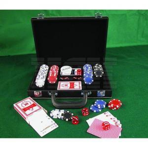 China 200 PC Poker Chip Set, Black Leather Case (0109-0201) wholesale