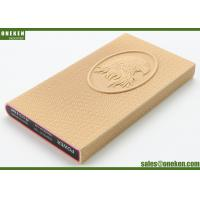China Eagle Design Leather Power Bank 3000mah Mobile Phone Charger For Iphone / Samsung wholesale