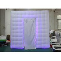 China Portable Oxford LED Light White Inflatable Wedding Photo Booth With Remote Control wholesale