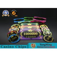 Acrylic Crystal RFID Rectangular Poker Chips Plaque Casino Jeton Real Gaming for sale