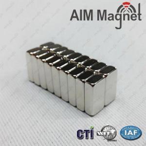 China N42 10 x 5 x 2mm Neodymium Magnet Block wholesale