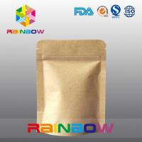 China Stand Up Kraft Paper Bags for Candy Packaging with Zipper and Window wholesale