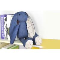 China Long ears Rabbit Stuffed Animal denim toys,35CM Custom gifts wholesale