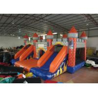 China Classic inflatable castle jump house colourful inflatable bouncy double slide combo house for kids under 15 years old on sale