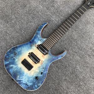 China 7 strings Mayones blue burst electric Guitar Ebony Fretboard locking Tuners Bolt-on OM logo mayones Duvell electric guit on sale