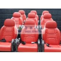 China Outside Mobile 6D Movie Theater 3 / 4 Seat Per Set Motion Chairs With Red Color wholesale