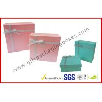 China Yellow Cosmetic Packaging Gift Box with Ribbon , cardboard gift boxes wholesale