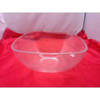 China Food-grade Square Clear Acrylic Bowl For Salad / Fruit 230 by 110mm wholesale