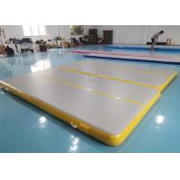 China Double Triple Stitching 4x2x0.2m Inflatable Air Tumble Track wholesale