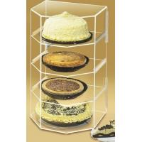 China 4 Shelf Bakery Acrylic Display Case For Pies , Cookie , Cake wholesale