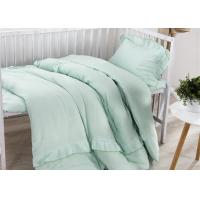 China Size Adjustable 5 Pcs Modern Crib Bedding Sets Double Gauze / Cotton Ruched wholesale